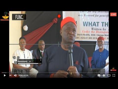 Live Stream: Nnia Nwodo & Biafrans Decides - Biafra Or Nigeria President What Do Ibos Want.
