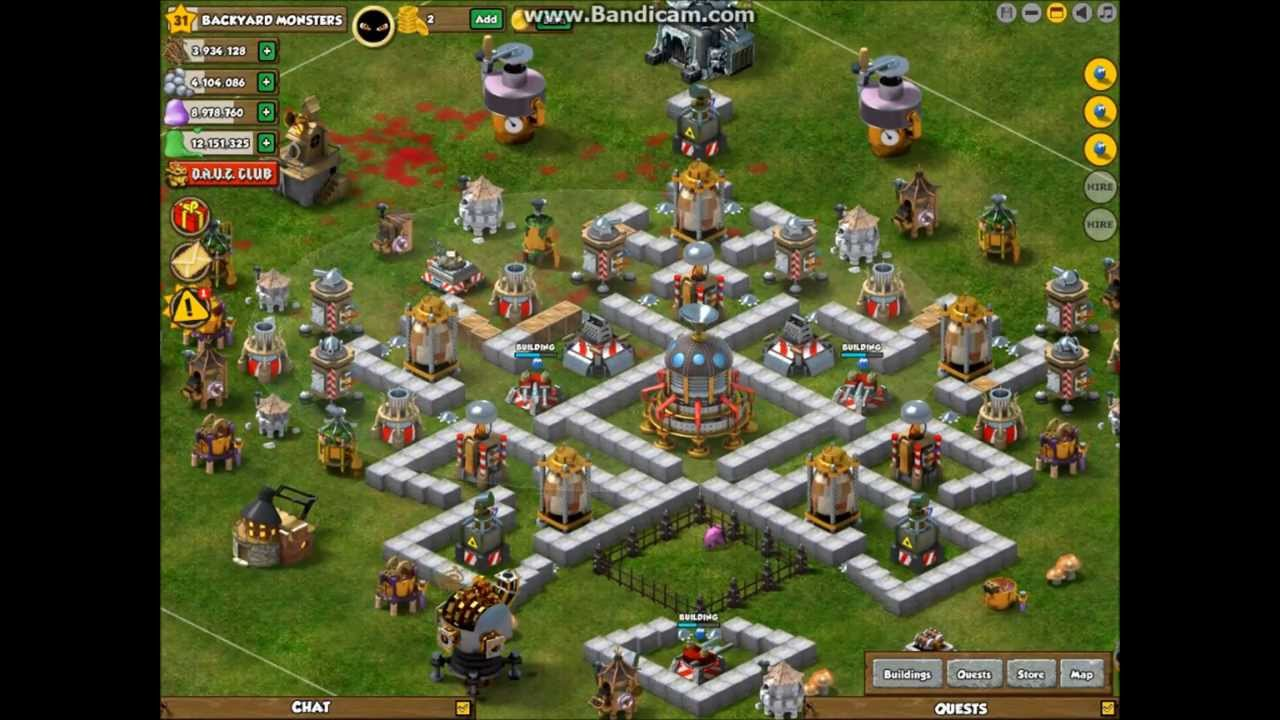 backyard monsters level 10 town hall base design backyard monsters
