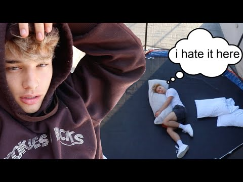 LIVING ON OUR TRAMPOLINE FOR 24 HOURS!!