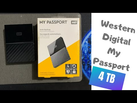 Western Digital MyPassport 4TB Unboxing