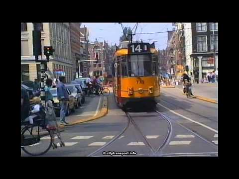 1990s Amsterdam Trams & Cyclists