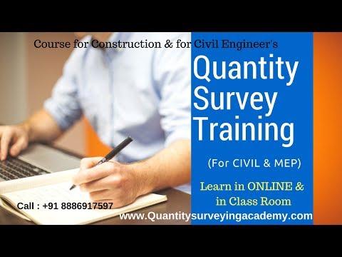 Quantity Survey Training, Online Demo For Quantity Surveying Course