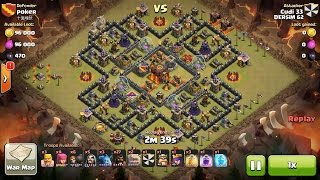 Clash of Clans TH10 vs TH10 Hog Rider, Golem, Wizard & Witch (HoGoWiWi) Clan War 3 Star Attack