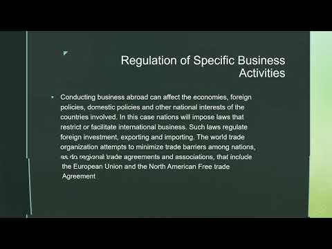 GBS205 Legal Environment- International Law