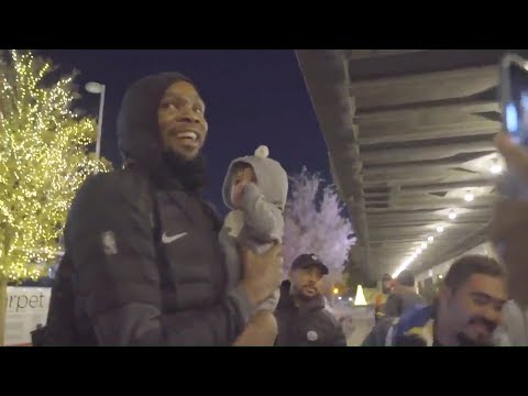 Kevin Durant RETURNS To OKC & Gets Lots Of Love From Thunder Fans