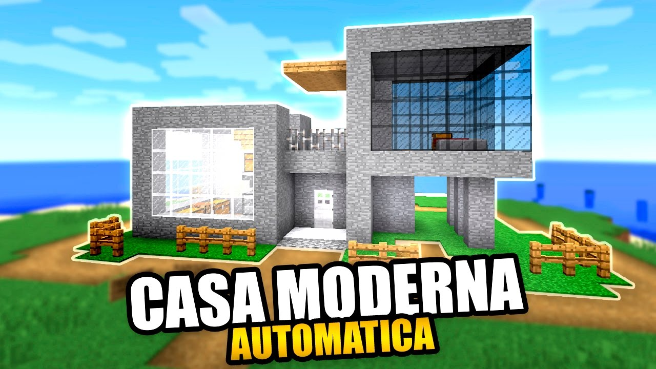 Casa moderna en minecraft automatica facil descarga for Casas modernas minecraft faciles