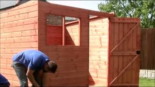 How To Build A Standard Pent Shed By Taylors Garden Buildings