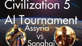 Assyria VS Songhai: CIV5 AI Tournament Match #2