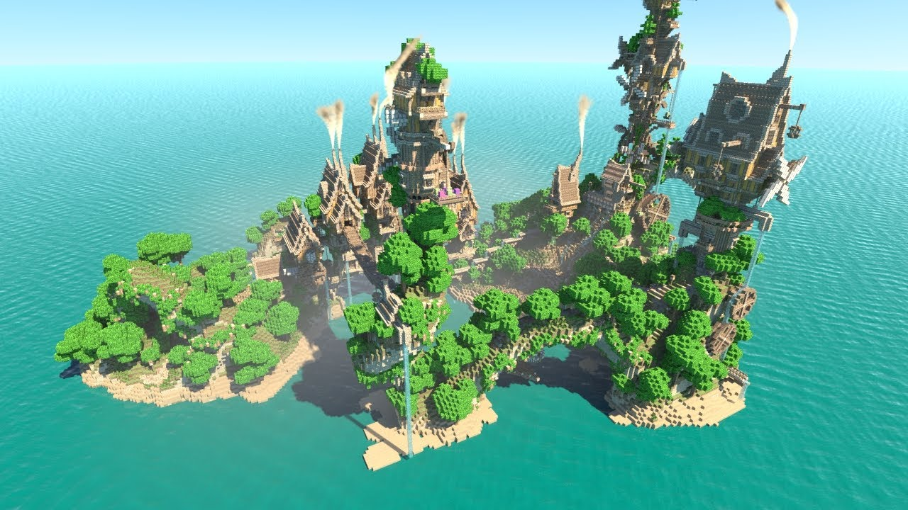 Steampunk Island Minecraft Animation Youtube