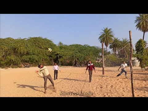 Volleyball Friendly Match   3 Freshers V/s 2 Champions   2020 Ram Tech Media