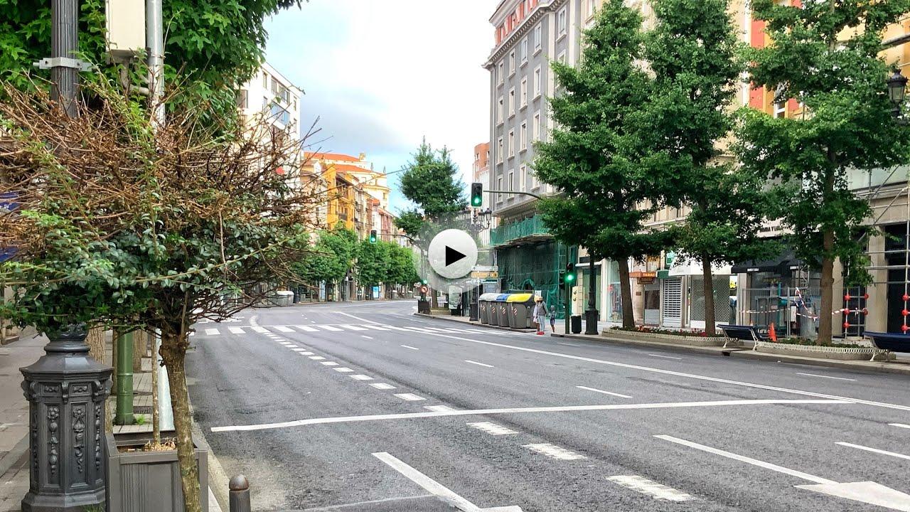 Así nos hemos encontrado las calles de Santander este miércoles festivo
