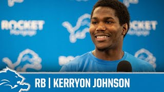 Kerryon Johnson on entering second season | Detroit Lions Sound Bites