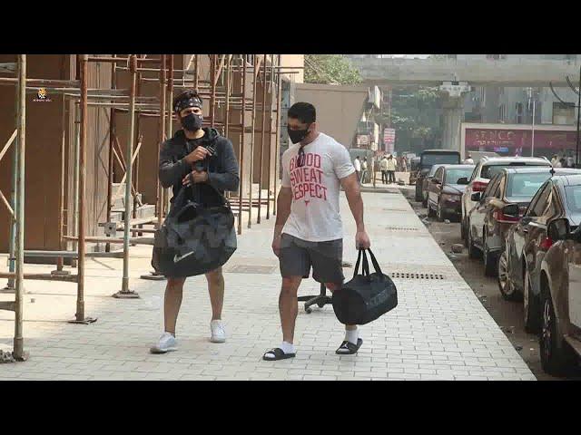 Karan Tacker Snapped Post Gym Session At Andheri