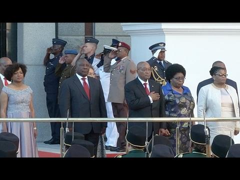 President Jacob Zuma arrives at 2017 State of the Nation Address