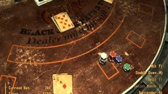 Fallout New Vegas: Let's gamble and break the casinos! (tutorial) w/ commentary.