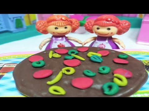 بيتزا بالشيكولاته🍩🍩العاب سيمبا سون!! حكايات بالعربية للأطفال، Pizza with chocolate