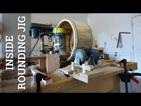 Drum Building -- INSIDE ROUNDING JIG: Router Table, Phase 3