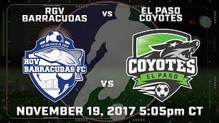 RGV Barracudas vs El Paso Coyotes thumbnail