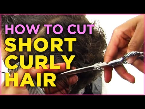 How to Cut Short Naturally Curly Hair Tutorial