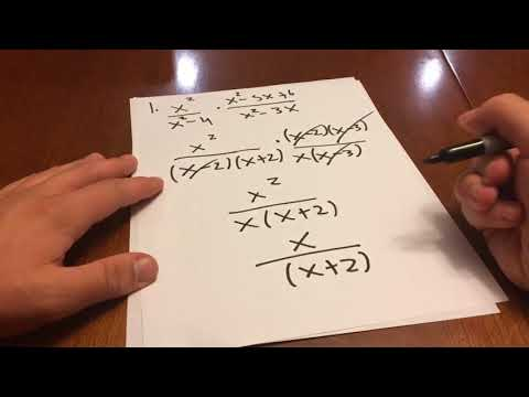 Multiplying and Dividing Rational Functions