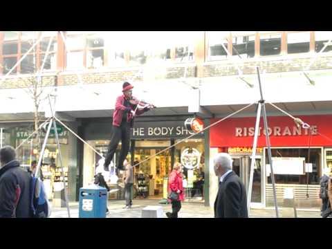 Violinist on a Tightrope Buchanan Street Glasgow