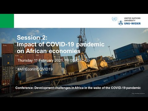 Development challenges in Africa in the wake of the COVID-19 pandemic: Session 2