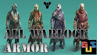 Destiny ALL Level 20 Warlock Armor Available In The Tower HD