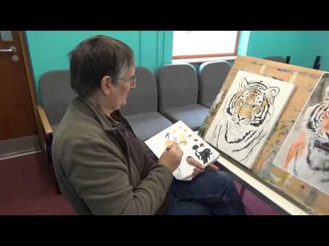 Julie's Studio - Tiger Painting (A Nice Portrait of Elena) - Part 3