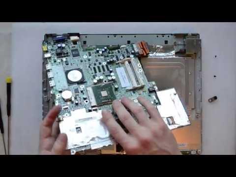 Fujitsu Siemens AMILO A1640 laptop disassembly, take apart, teardown tutorial
