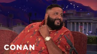 Why DJ Khaled Shouts His Own Name  - CONAN on TBS