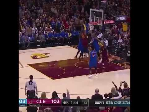 29365eb049ff Lebron James dunks over draymond green   Kevin Durant - YouTube