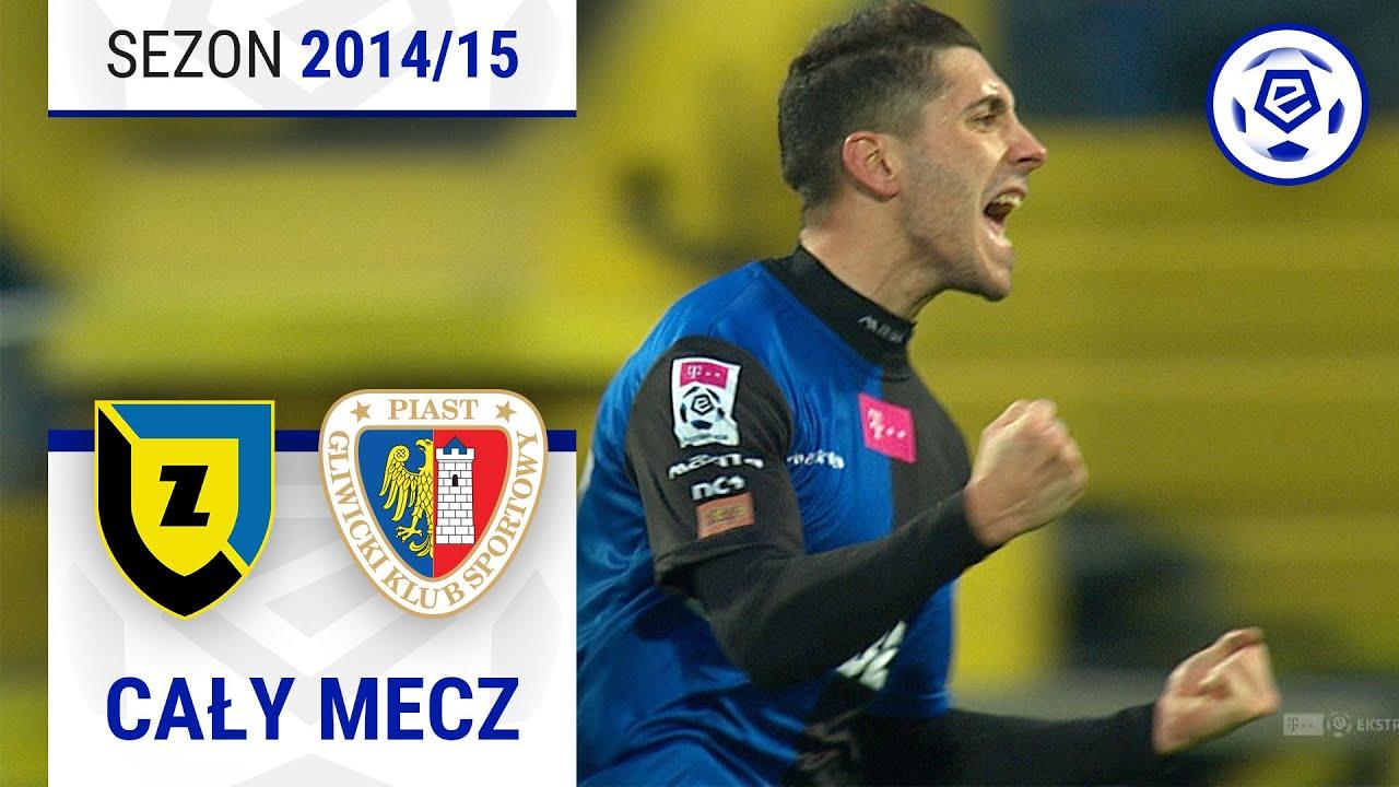 Zawisza Bydgoszcz - Piast Gliwice [1. połowa] sezon 2014/15 kolejka 22