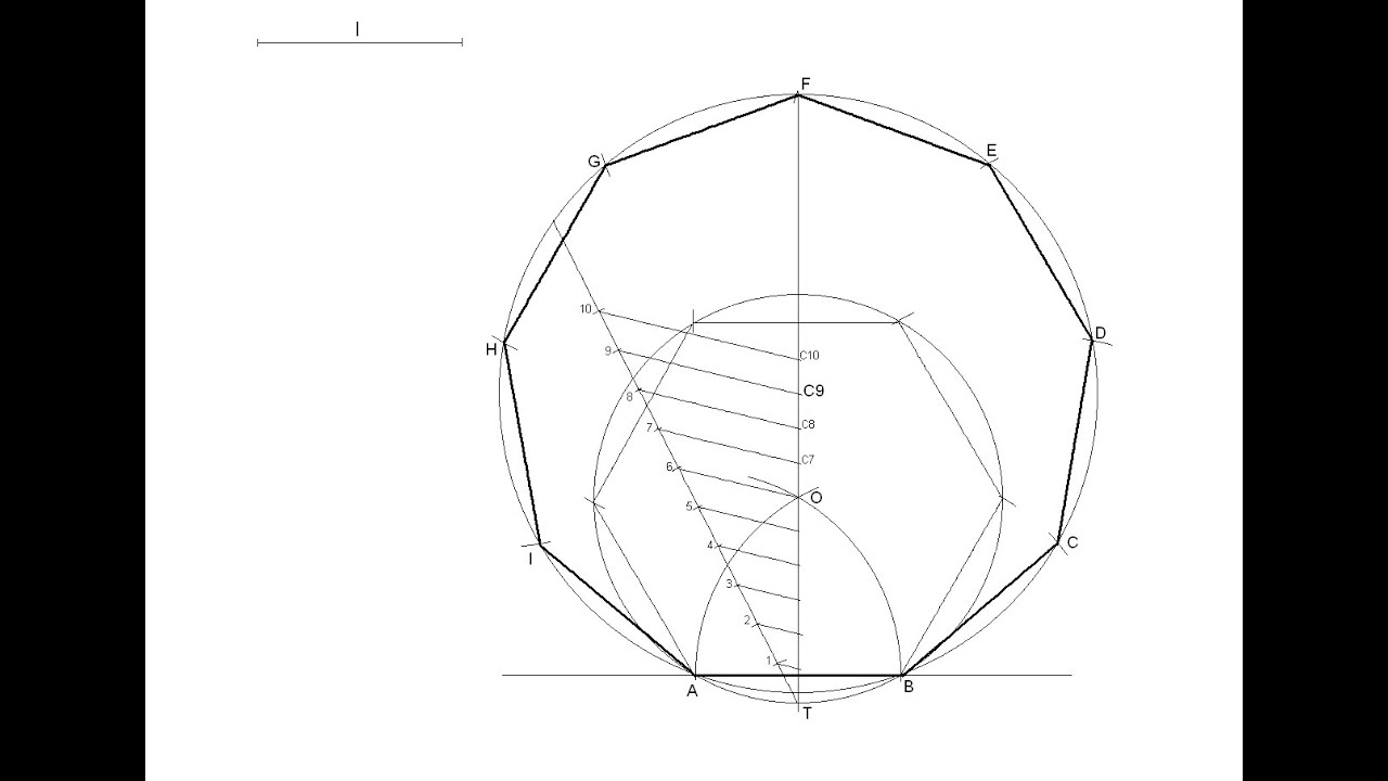 General Method For Drawing Any Regular Polygon Given The
