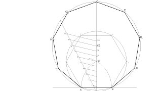 General method for drawing any regular polygon given the measurement of one side