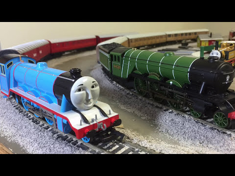 Modelling Railroad Toy Train Scenery -Flying Scotsman and Gordon – Brother Trouble – Thomas & Friends HO Scale Trains