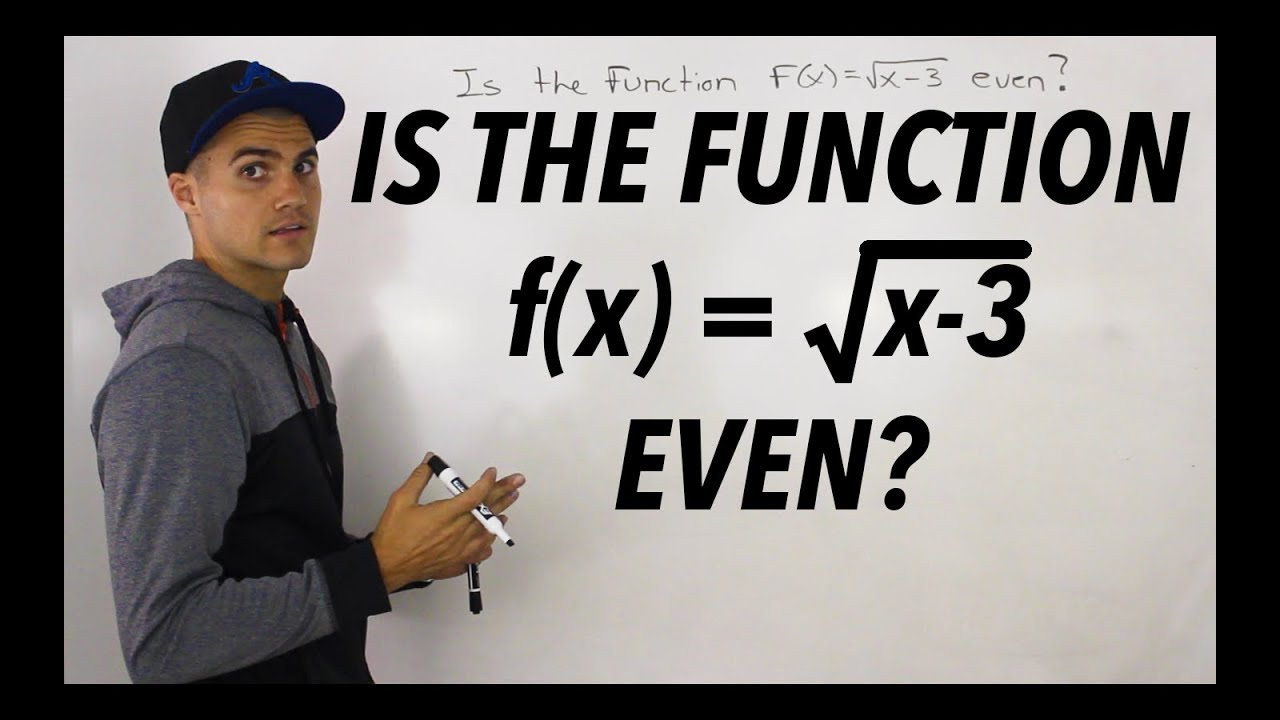 MHF4U (Unit 1, Test 1, Communication Section, Question 1) - Even Functions