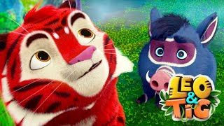 LEO and TIG 🦁 Episodes collection (21-26) 🐯 Good Animated ❤️ Moolt Kids Toons Happy Bear