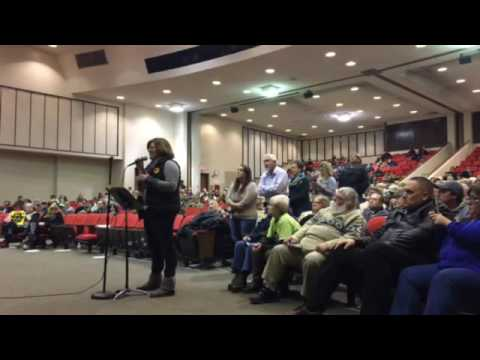 Woonsocket residents ask questions about water sale to   Burrillville power plant.