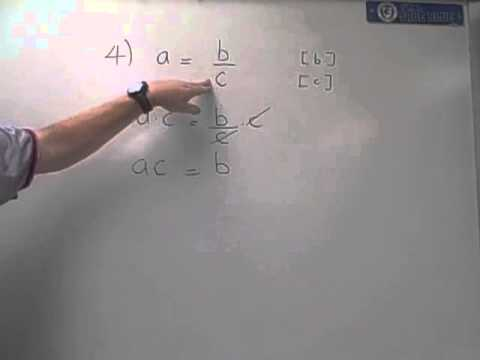 literal eq #4      a = b/c   Solve for b and Solve for c