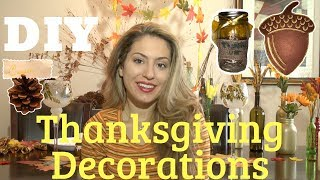 DIY Thanksgiving Decorations & Activities