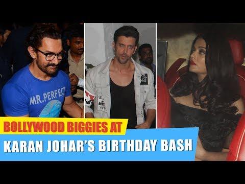 Aishwarya Rai Bachchan, Hrithik Roshan, Deepika Padukone at Karan Johar's Birthday Bash 2017