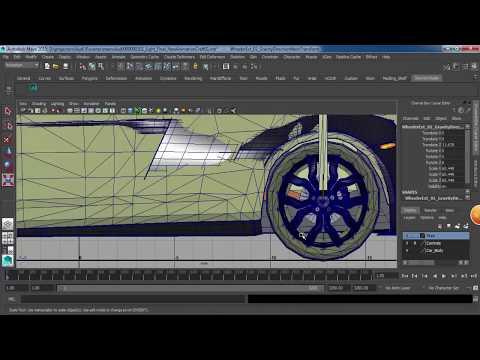 Audi R8 3D by Maya 2015 Animation تعلم حركة السيارة