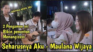 Download lagu Bikin Penonton Menangis !!! Seharusnya Aku - Maulana Wijaya - Tri suaka Ft Ricky