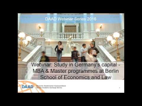 Webinar  Study in Germany's capital: MBA & Master at Berlin School of Economics and Law