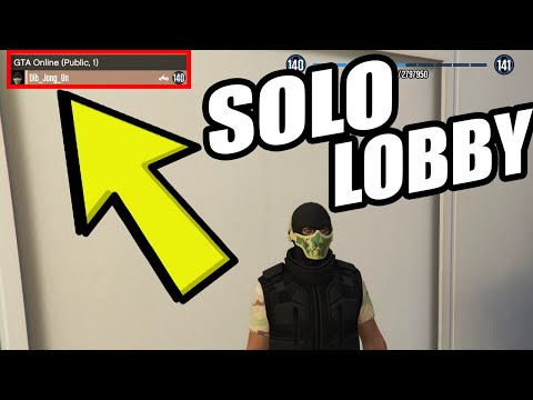 GTA 5 - How to get a Solo Public Lobby in GTA Online (Ps4, Xbox One) EASY