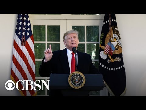 President Trump addresses weekend's deadly mass shootings, live stream   CBS News Special Report