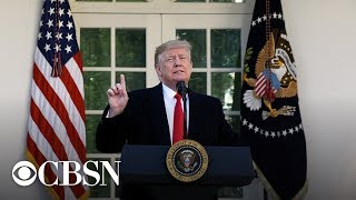 President Trump addresses weekend's deadly mass shootings, live stream | CBS News Special Repor