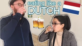 I Only Ate DUTCH Foods for 24 Hours | Netherlands Travel Vlog