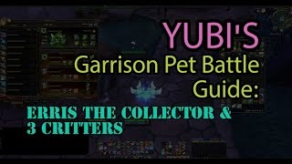 How to Beat Erris the Collector & 3 Critters Garrison Pet Battle Guide