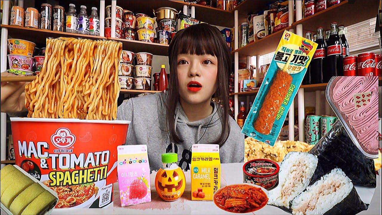 🤠I TURNED MY HOUSE INTO A KOREAN CONVENIENCE STORE, 3 COURSE CONVENIENCE STORE MEAL+ giveaway 편의집?ㅋㅋ